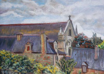 Halte à l'abbaye de Lehon