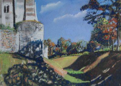 Ombres et lumières dans les douves du château de Nogent