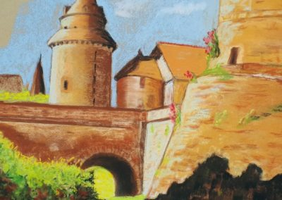 169i-2019 Chateaugiron au pied de la tour