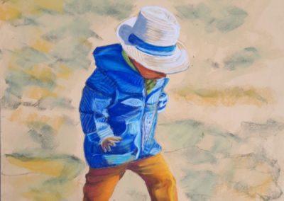 181i-2019 le petit garçon au chapeau