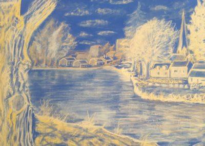 185i- l'étang de CREVIN