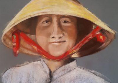 223i-2020 la petite cambodgienne au chapeau stage Marina
