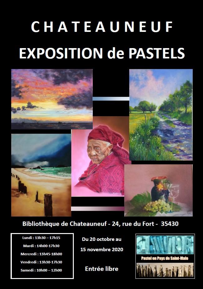 Exposition Pastel en Pays de Saint-Malo à Chateauneuf octobre novembre 2020
